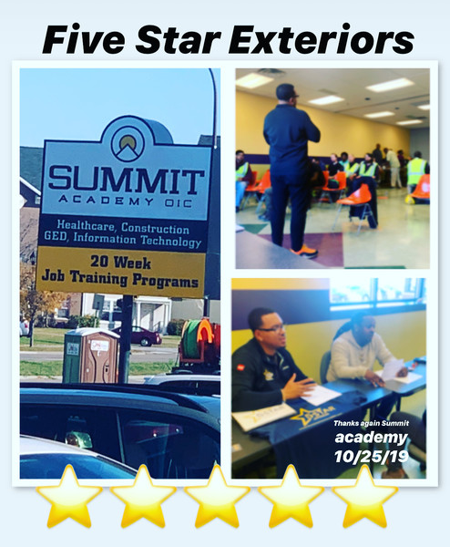 Five Star Exteriors Giving Back and Helping Inner-City Schools at Summit Academy in Minneapolis, MN (1)